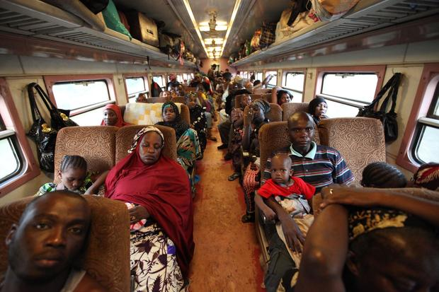 Train journey through Nigeria