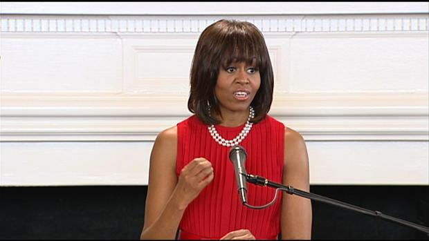 "Michelle Obama: Our ""thoughts and prayers"" are with Boston"