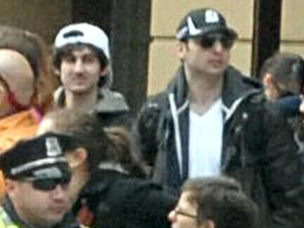 """Suspect 1"" and ""Suspect 2"" in the Boston Marathon bombings, as identified by the FBI"