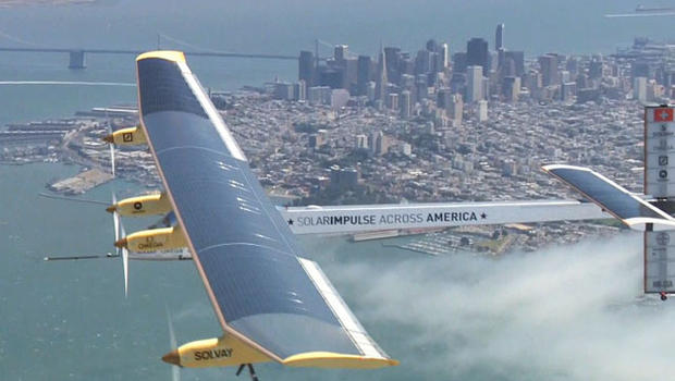 Solar Impulse prepared for its cross-country trip with a test flight over San Francisco.