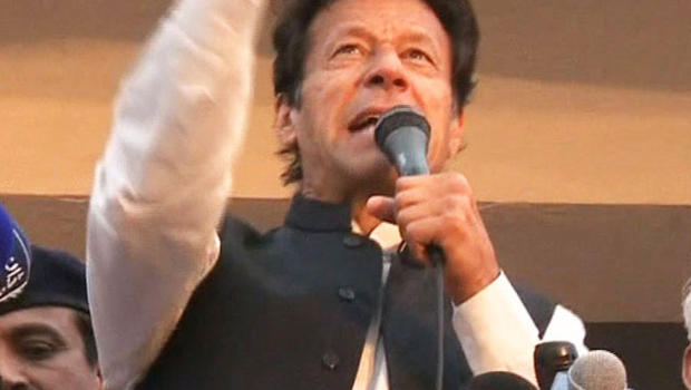 Former cricket star Imran Khan supports negotiating with the Taliban and opposes U.S. drone strikes on Taliban militants.