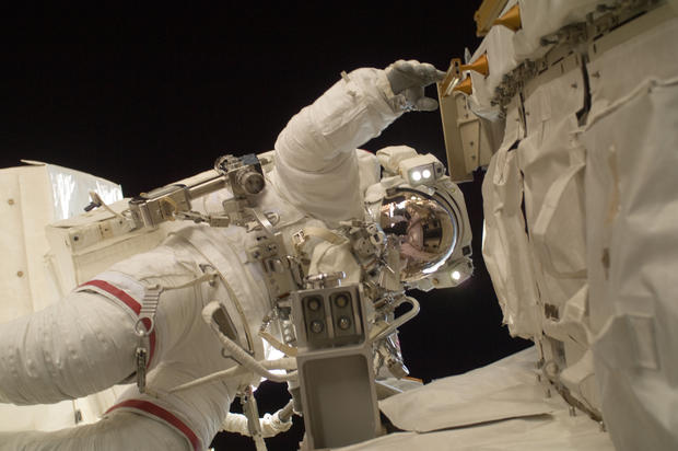 NASA astronaut Sunita Williams during a speacewalk