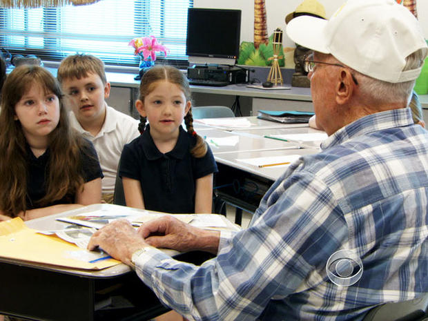 Whenever 87-year-old Charles Mowbray visits North Salisbury Elementary in Salisbury, Md., the World War II Navy sailor brings a boatload of stories.