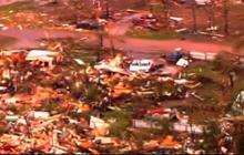 Tornado levels homes in Shawnee, Okla.