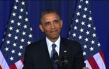 Protester heckles Obama during counterterrorism speech
