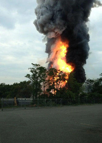 Fiery freight train crash in Md.