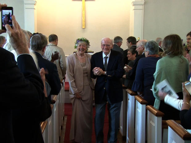 Cynthia Riggs and Howard Attebery's wedding last week, sixty years after meeting.