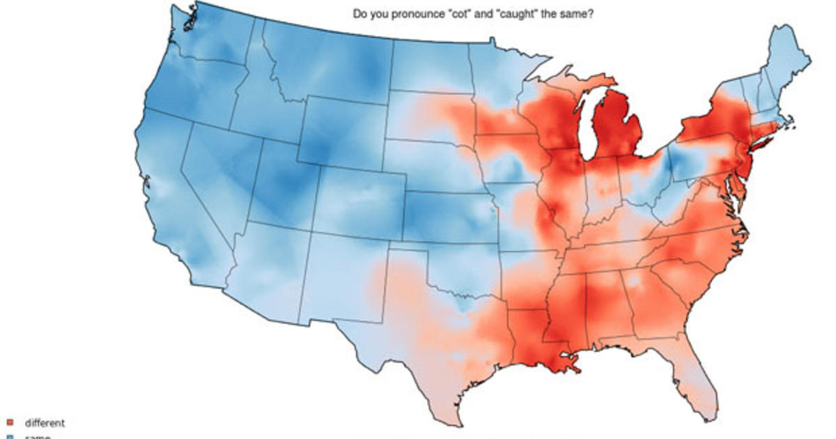 Dialect Map Of The United States.All Mond Or Ah Mond The Different Use Of English In The U S