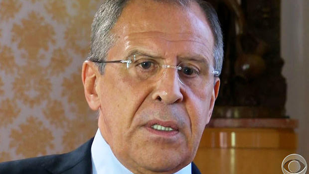 Russian Foreign Minister Sergei Lavrov tells CBS News' Clarissa Ward an end to Syria's two-year-old civil war can be negotiated at peace conference.