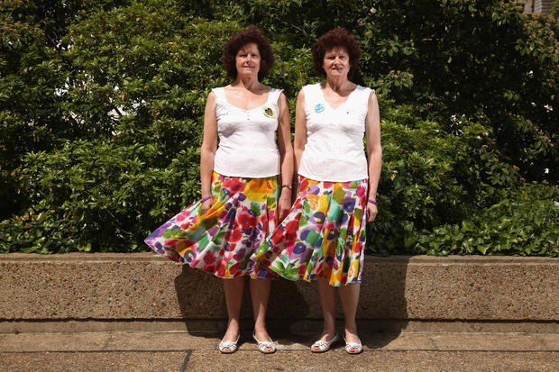 Seeing double - twins gather in England
