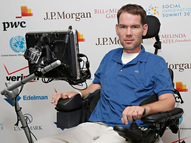 Former NFL player Steve Gleason attends the Social Innovation Summit on May 30, 2013, in New York City.
