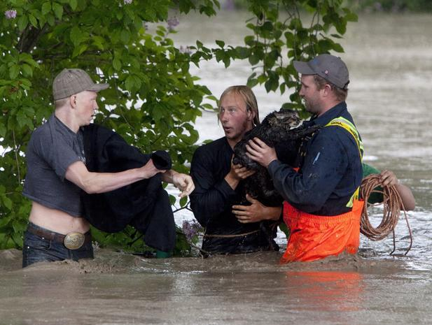 Western Canada under water