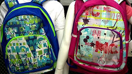 Bulletproof backpacks from Miguel Caballero's new line, MC Kids.