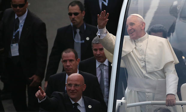 Pope Francis arrives in Brazil