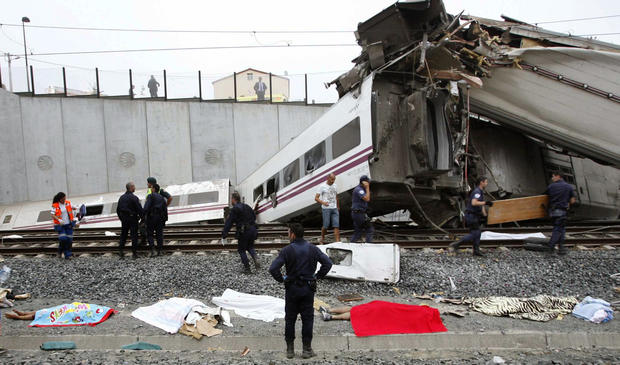 Deadly Spanish train derailment
