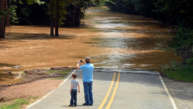 Heavy rains caused massive flooding in Lincolton, N.C. Sunday, July 28, 2013.