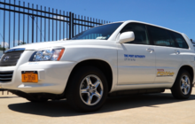 Behind the wheel of a hydrogen fuel cell car