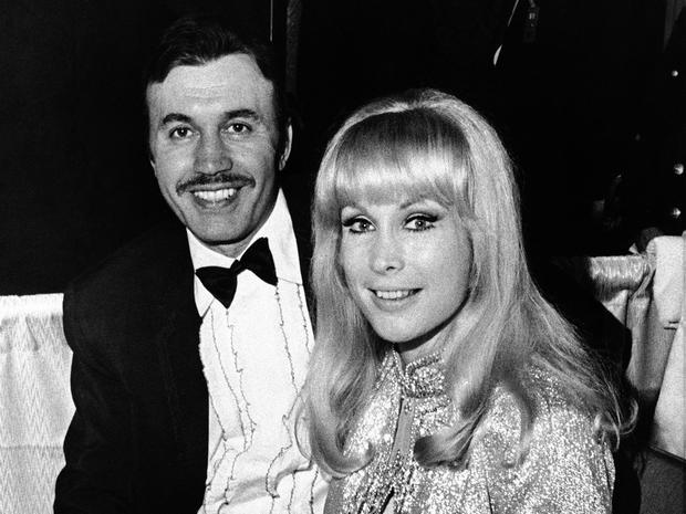 Michael Ansara and Barbara Eden were among several Hollywood couples at the Inaugural Ball in the Sheraton Hotel Ballroom in Washington Jan. 21, 1969.
