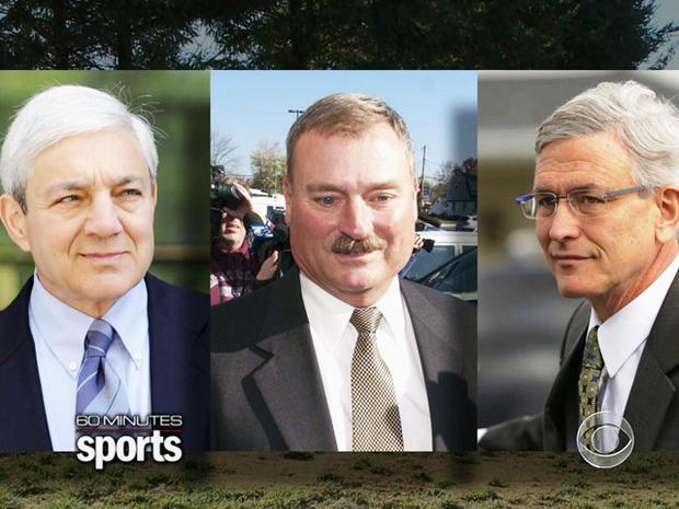 Penn State President Graham Spanier, Senior Vice President Gary Schultz and Athletic Director Tim Curley