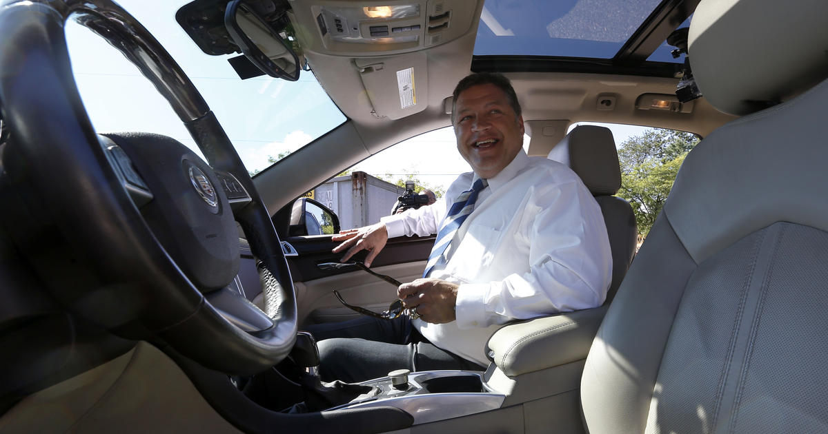 Cadillac Evening News >> Pa. congressman rides in computer-operated car - CBS News