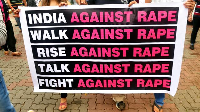 protest against the gang-rape in Mumbai