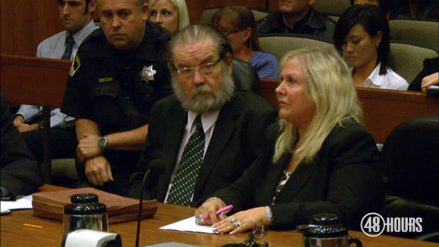Richard Hirschfield, seen here with his defense attorney, was convicted and sentenced to death. He is appealing his conviction.