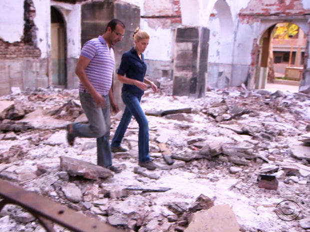 The Church of the Virgin Mary in a small village outside Cairo was attacked last August.