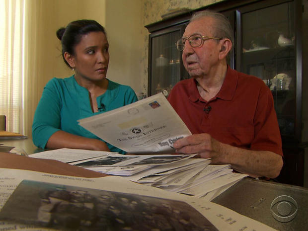 James Misuraca recalls his time as a prisoner of war in Switzerland. He was held in a camp run by a Nazi sympathizer.