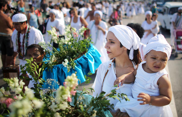 Brazilians celebrate Goddess of the Sea