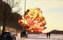 N.D. train crash still burning, fire hampering investigation