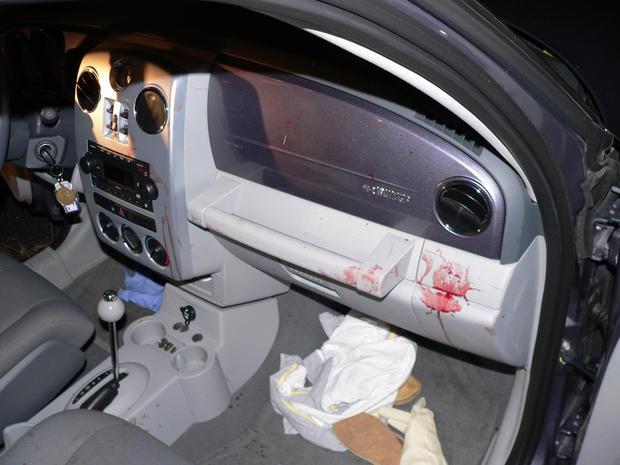 Inside A.B. Schirmer's car following crash