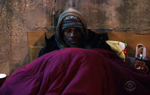 Chicago's homeless flock to shelters amid deep freeze