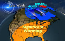 Temperatures to jump 20 degrees in parts of U.S.