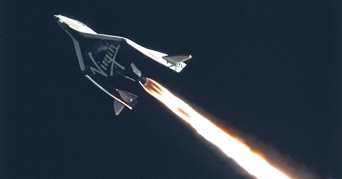 Virgin Galactic spaceship makes third powered test flight ...