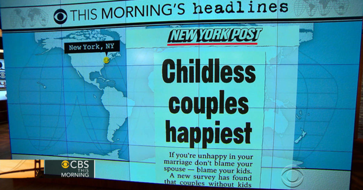 Headlines at 8:30: Childless couples are happier - CBS News