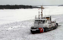 Watch: Coast Guard ice breakers work to keep Great Lakes shipping channels open