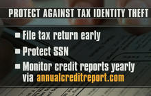 How to prevent thieves from targeting your tax return