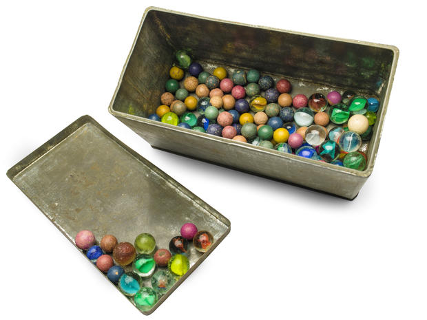 Set of marbles that belonged to Anne Frank