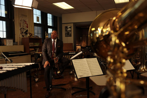 Behind the scenes with jazz great Wynton Marsalis