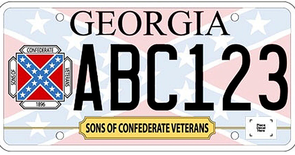 Confederate flag approved for specialty license plate in Georgia ...