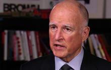Calif. Gov. Jerry Brown talks drought, political future