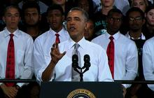 Obama urges every high school student to apply for college tuition aid