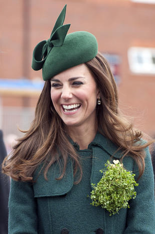 Pretty in green: Duchess Kate