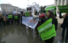 Supreme Court arguments on contraceptive rule unusually intense, divisive