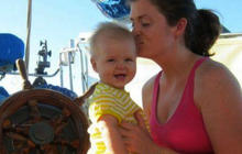 Sick baby rescued at sea recovering