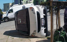 Smart cars being tipped over in San Francisco