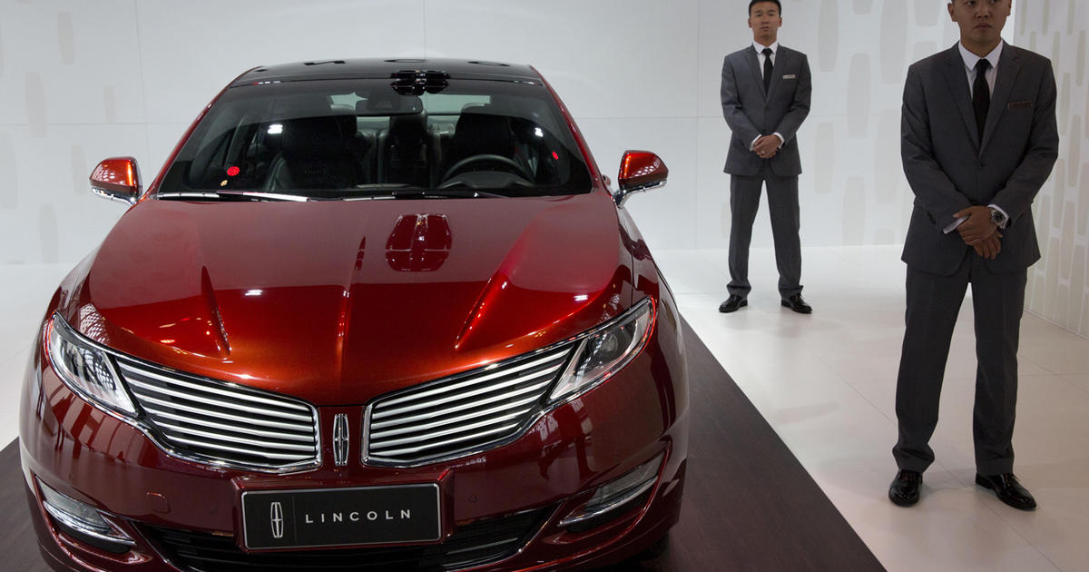 Ford To Sell Lincoln Cars In China For First Time Cbs News