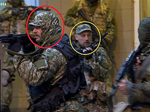 A photo distributed by Ukraine's government to the OSCE purportedly shows Russian special forces deployed in eastern Ukraine