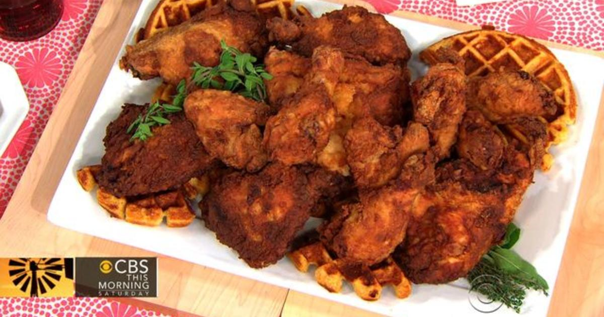 Chef Norman Van Akens Green Parrot Fried Chicken And Waffles On
