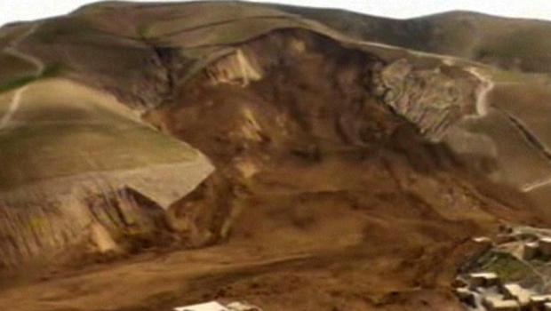 A landslide buried the village of Hobo Barik in Badakhshan province in northeastern Afghanistan May 2, 2014.